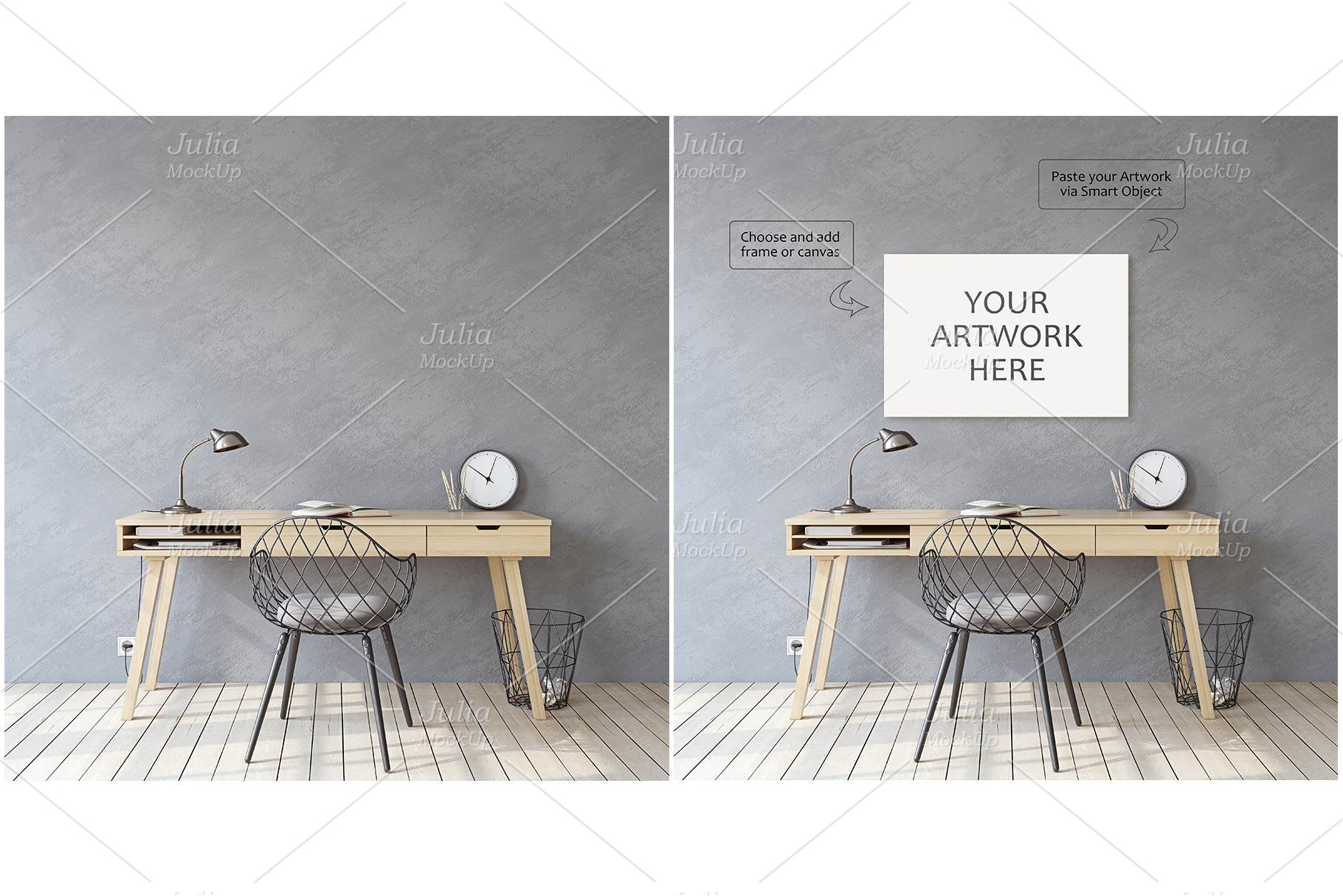 Home office. Frames&Canvases Mockup. example image 2