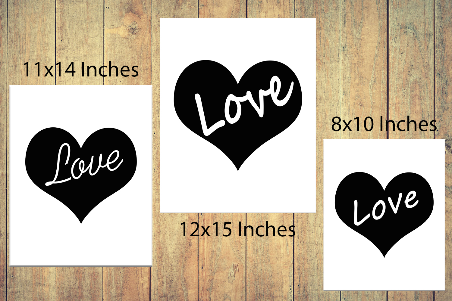 Heart Print, Love Quote Print,Love Print,Heart Poster, OFF50 example image 5