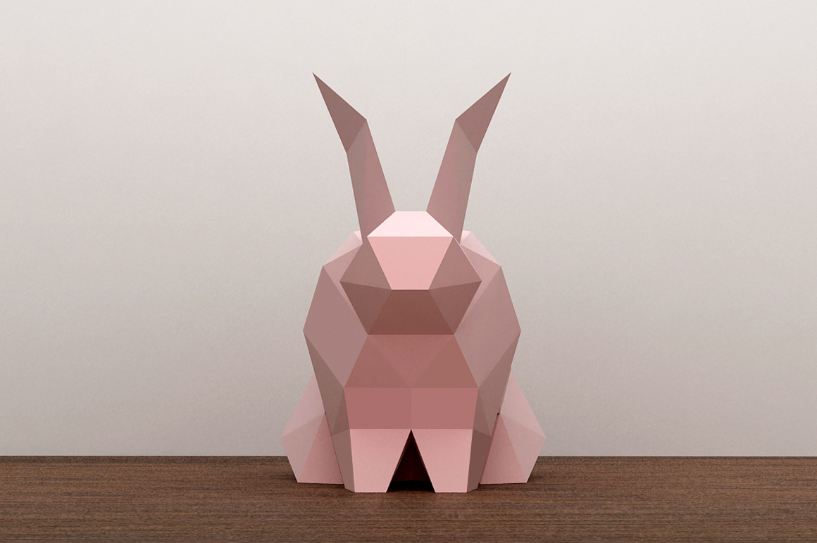 DIY Paper Rabbit - 3d papercraft example image 5