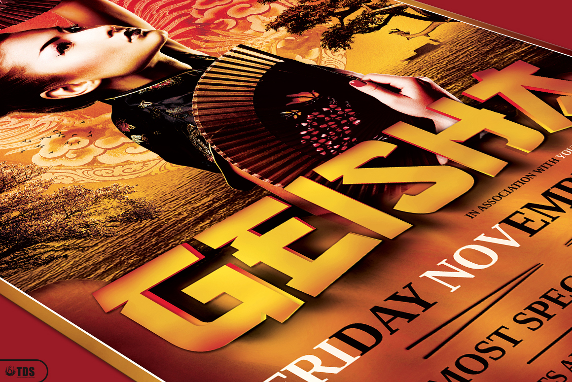 Geisha Night Flyer Template V3 example image 5