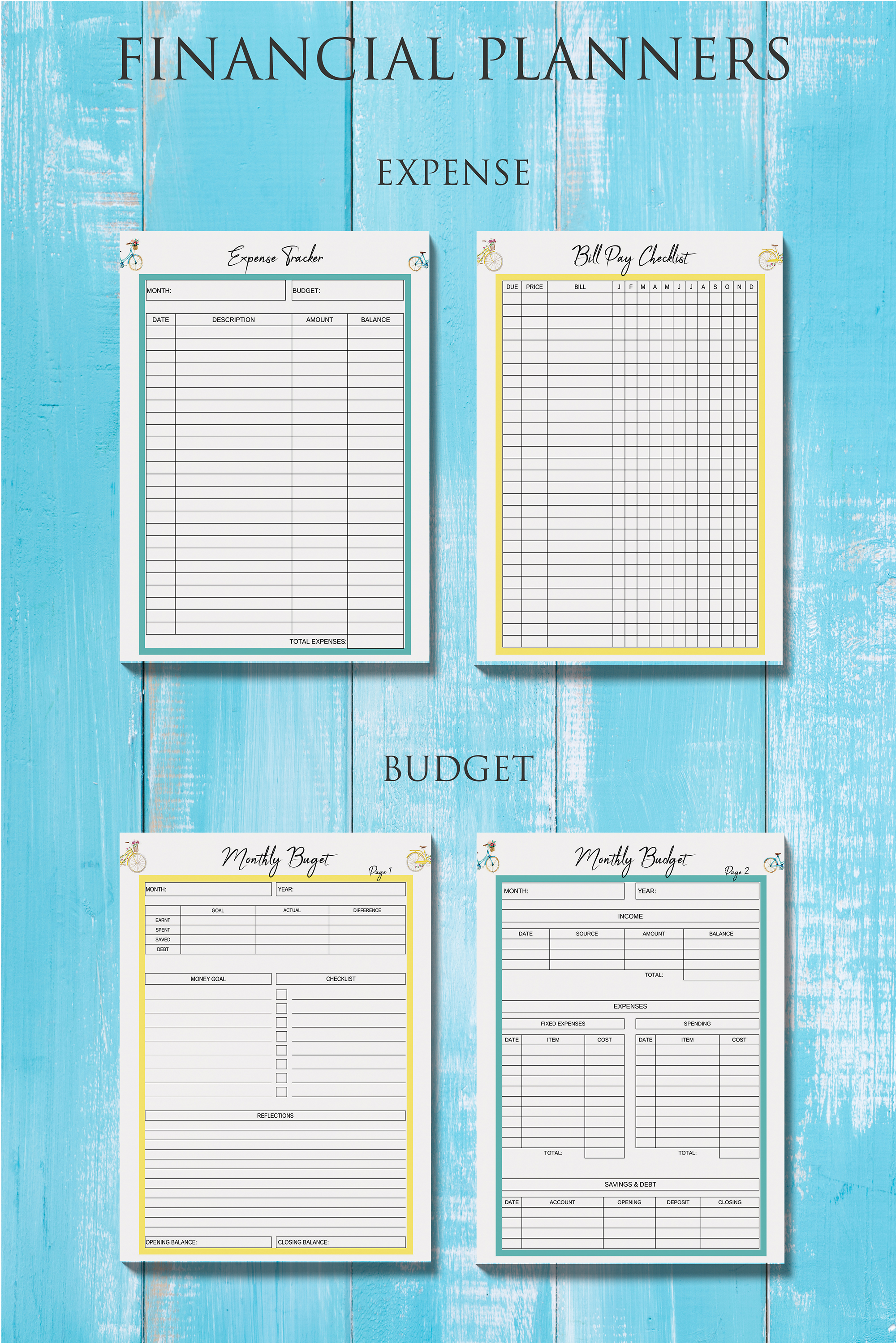 Life Planner Binder, Goal Planner Printable, Life Organizer example image 2
