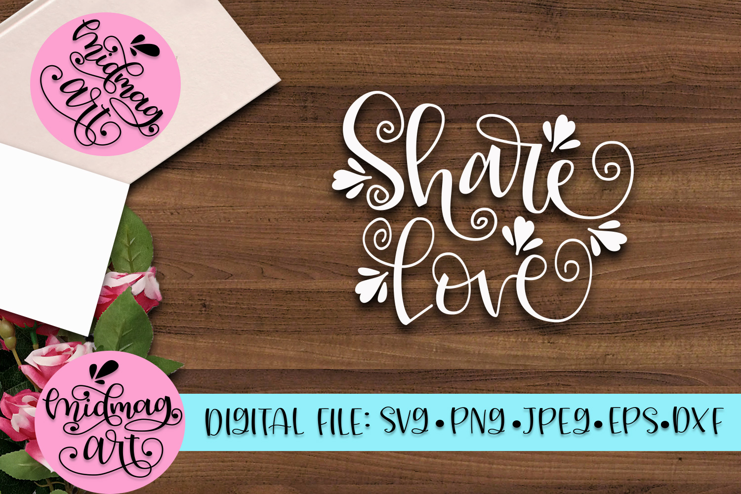 Share love svg, png, jpeg, eps and dxf example image 2