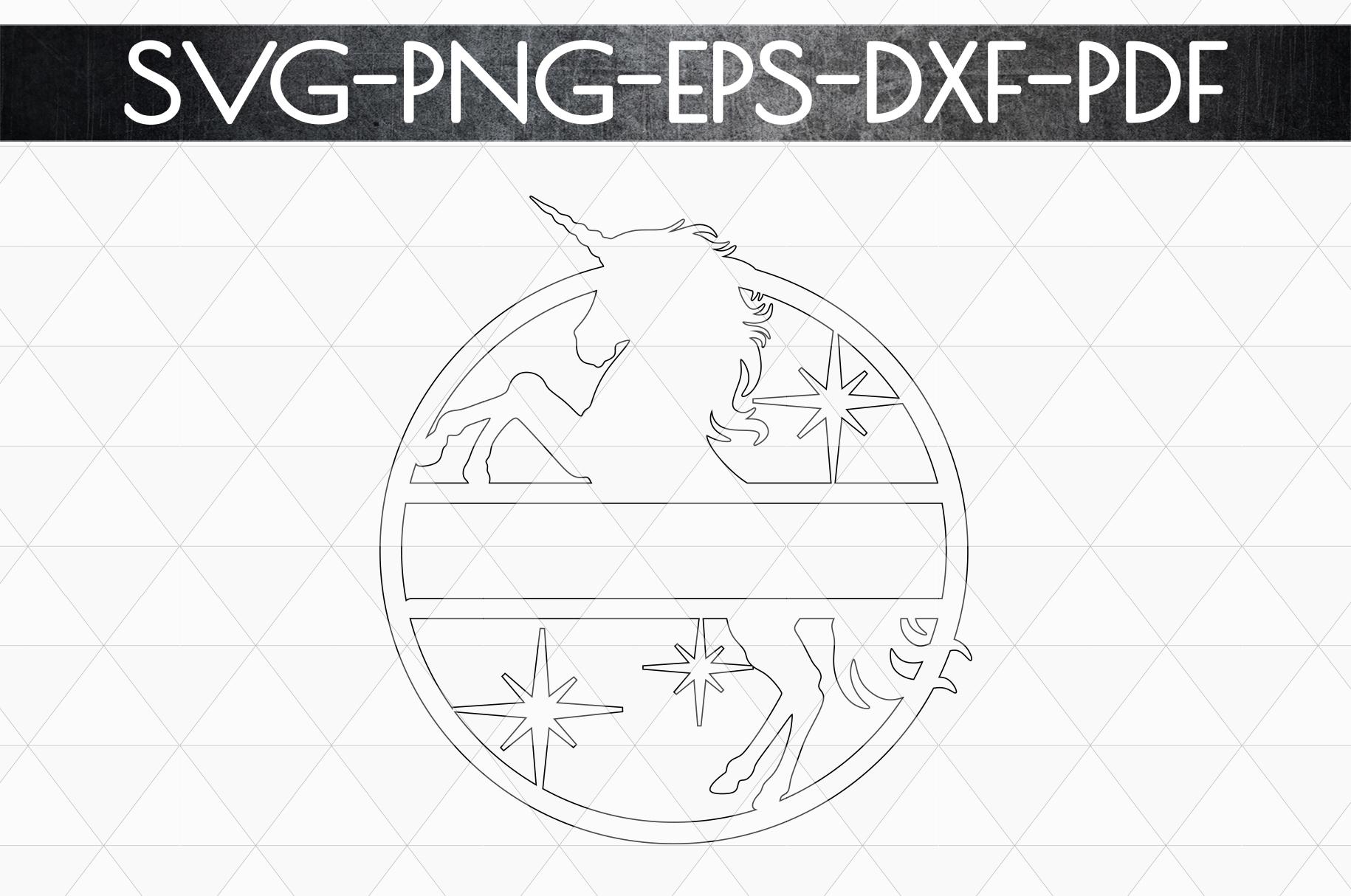 Customizable Unicorn Papercut Template, Unicorn Party SVG example image 5