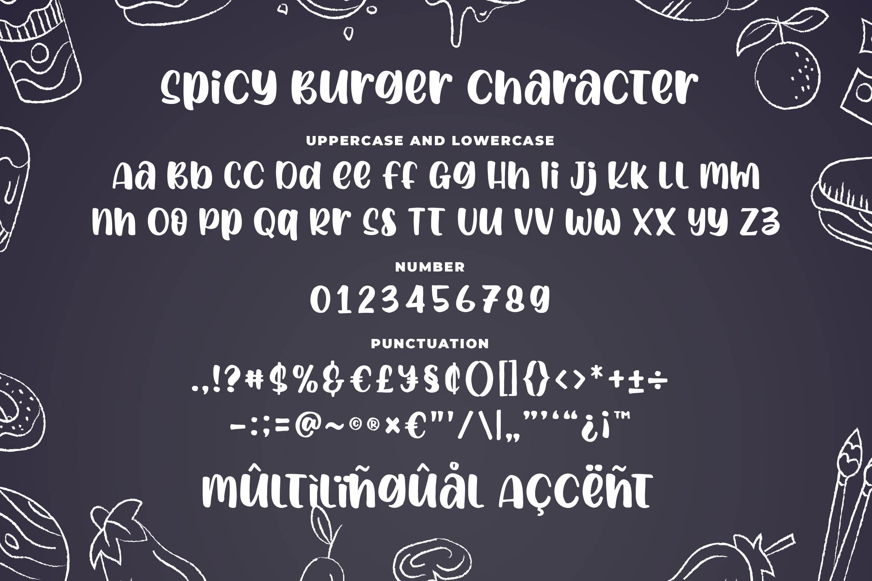 Spicy Burger - Delicious Unique Font example image 6