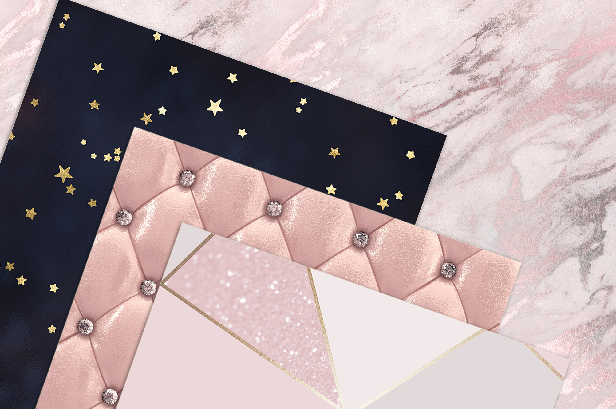 Rose Gold Marble Digital Paper example image 2