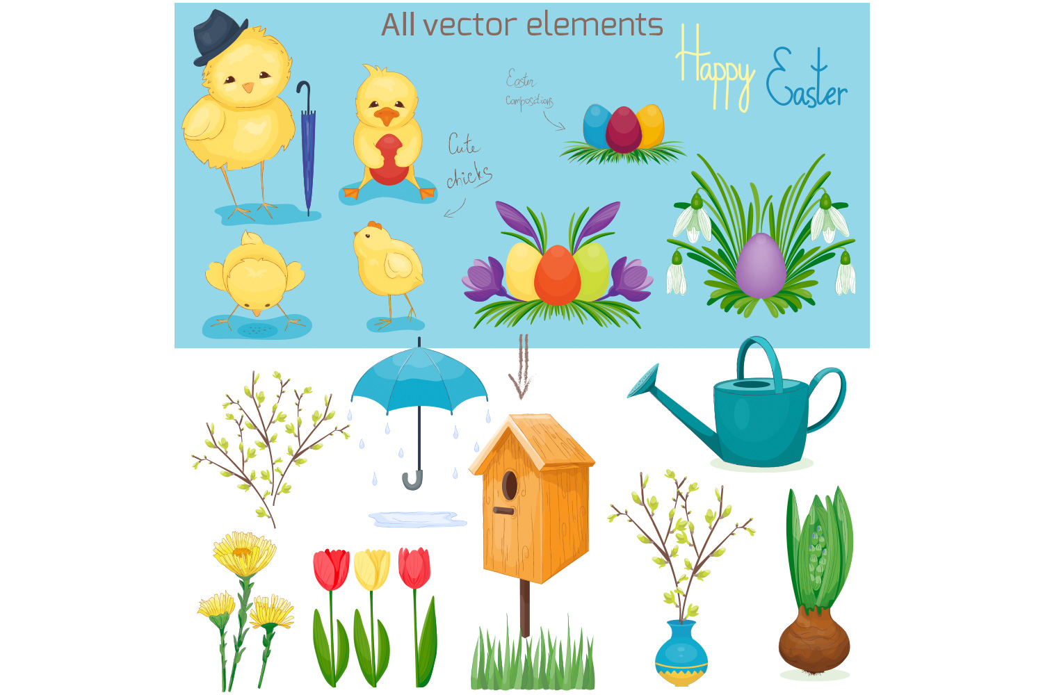 Spring vector set example image 4