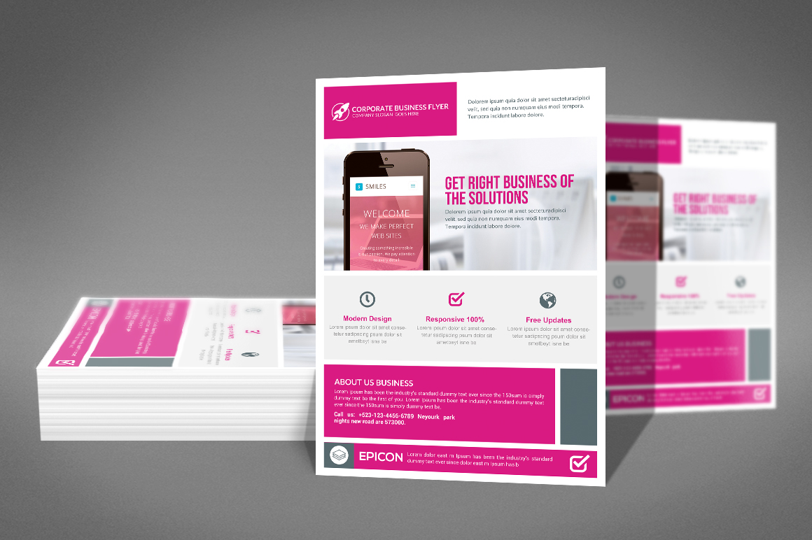 Modern Corporate Flyer Template example image 2