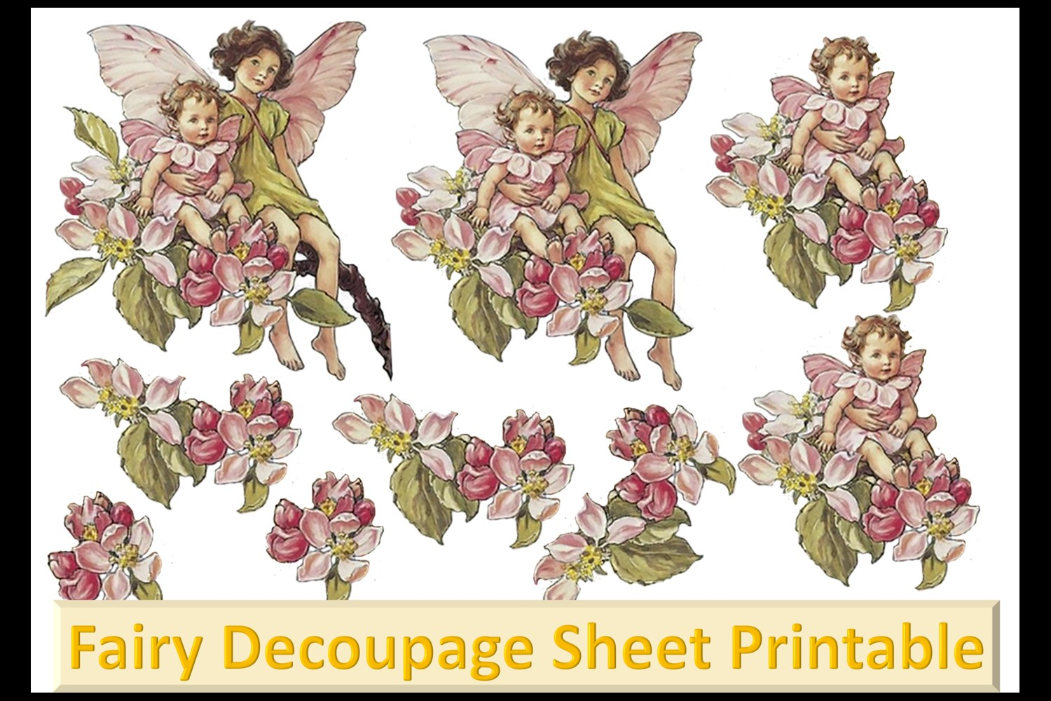 Fairy Mega Bundle. 24 backing papers 80 piece total CU example image 10