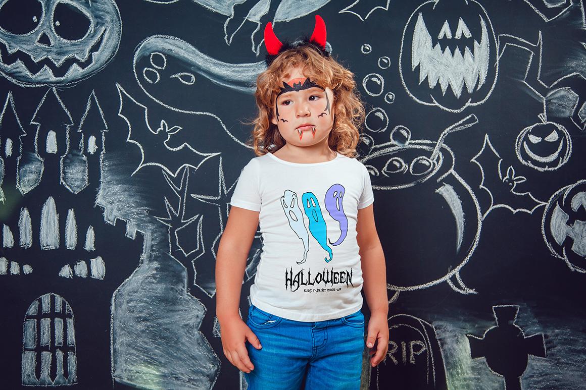 Halloween Kids T-Shirt Mock-Up example image 7
