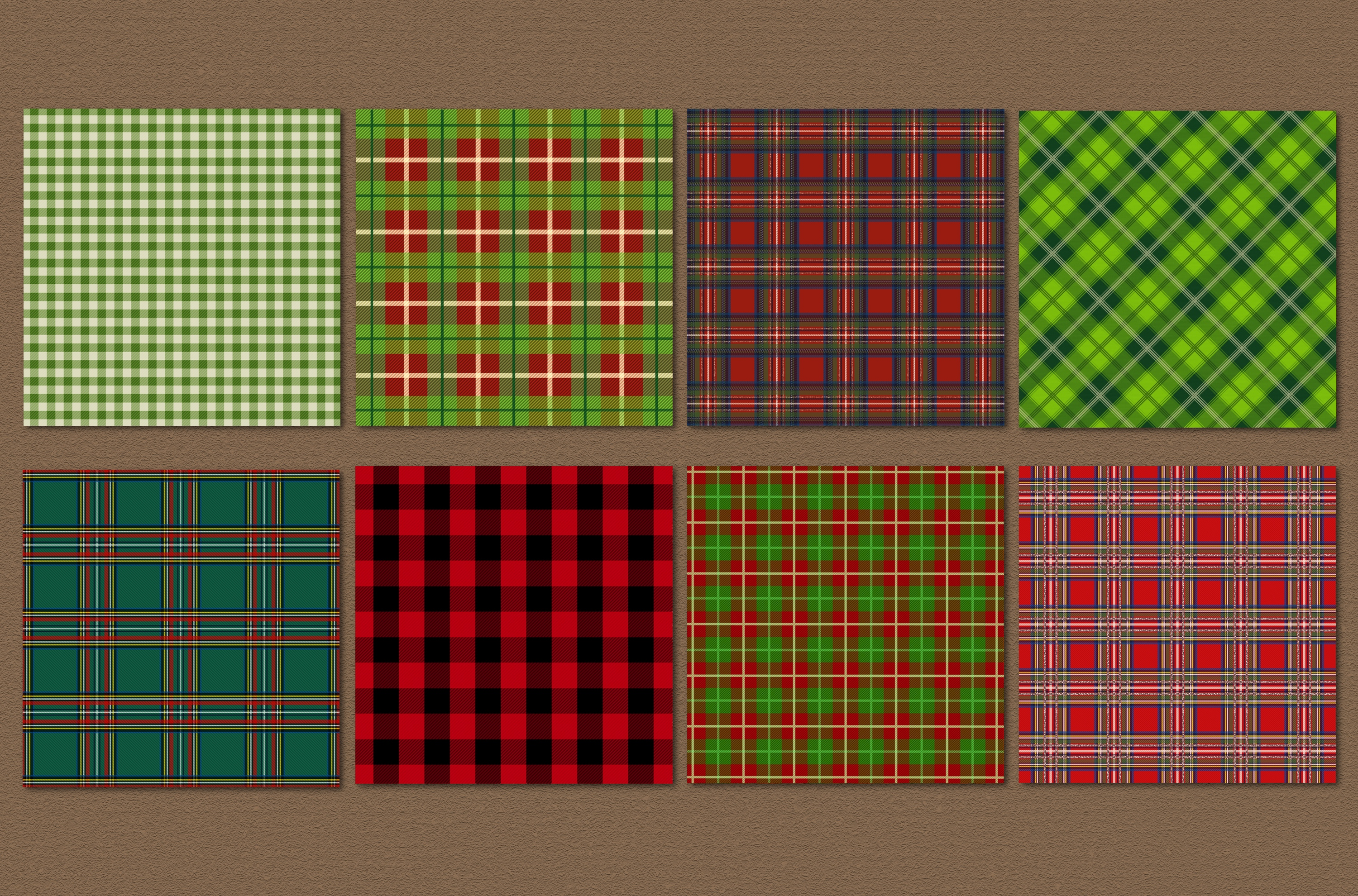 Christmas plaid backgrounds example image 3