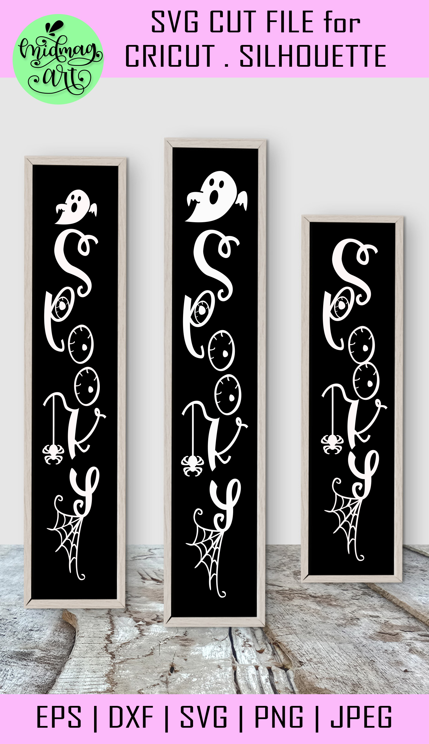 Spooky svg, halloween wood sign svg example image 2