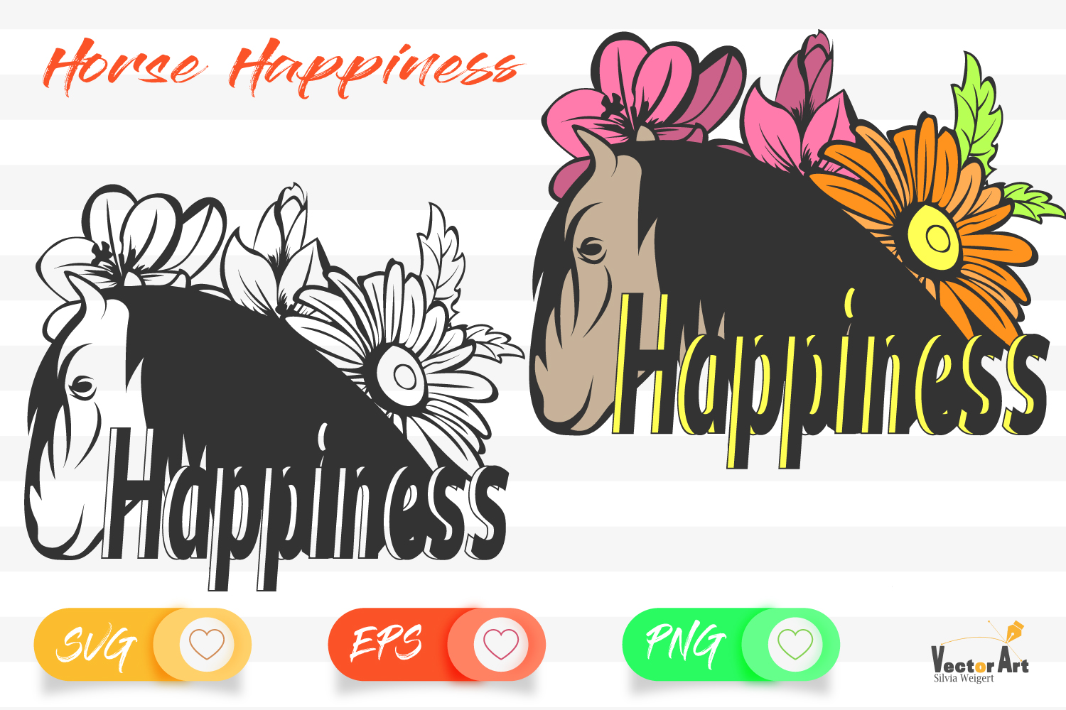 Horse Happiness - Cut File 2 Versions example image 1