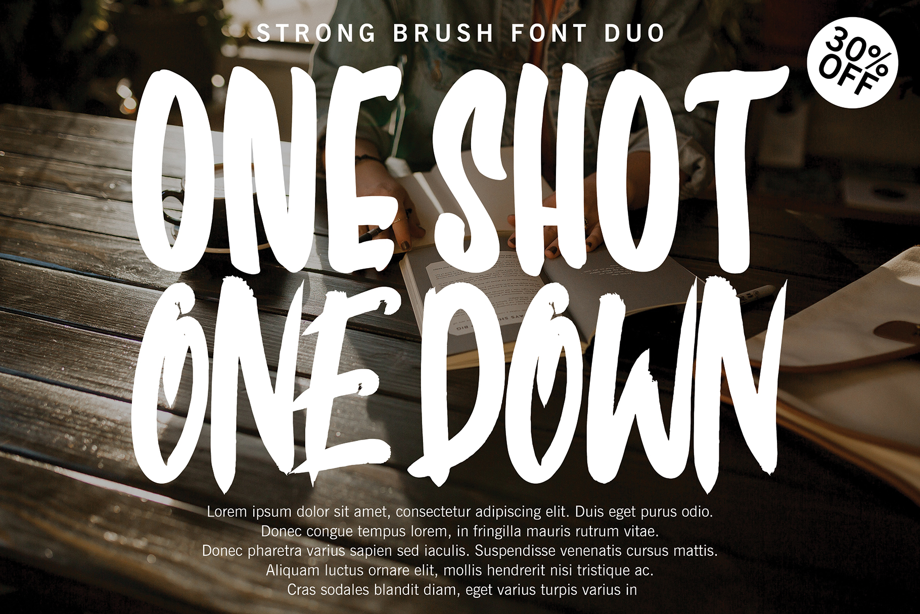 ONE SHOT FONT DUO !!! example image 1