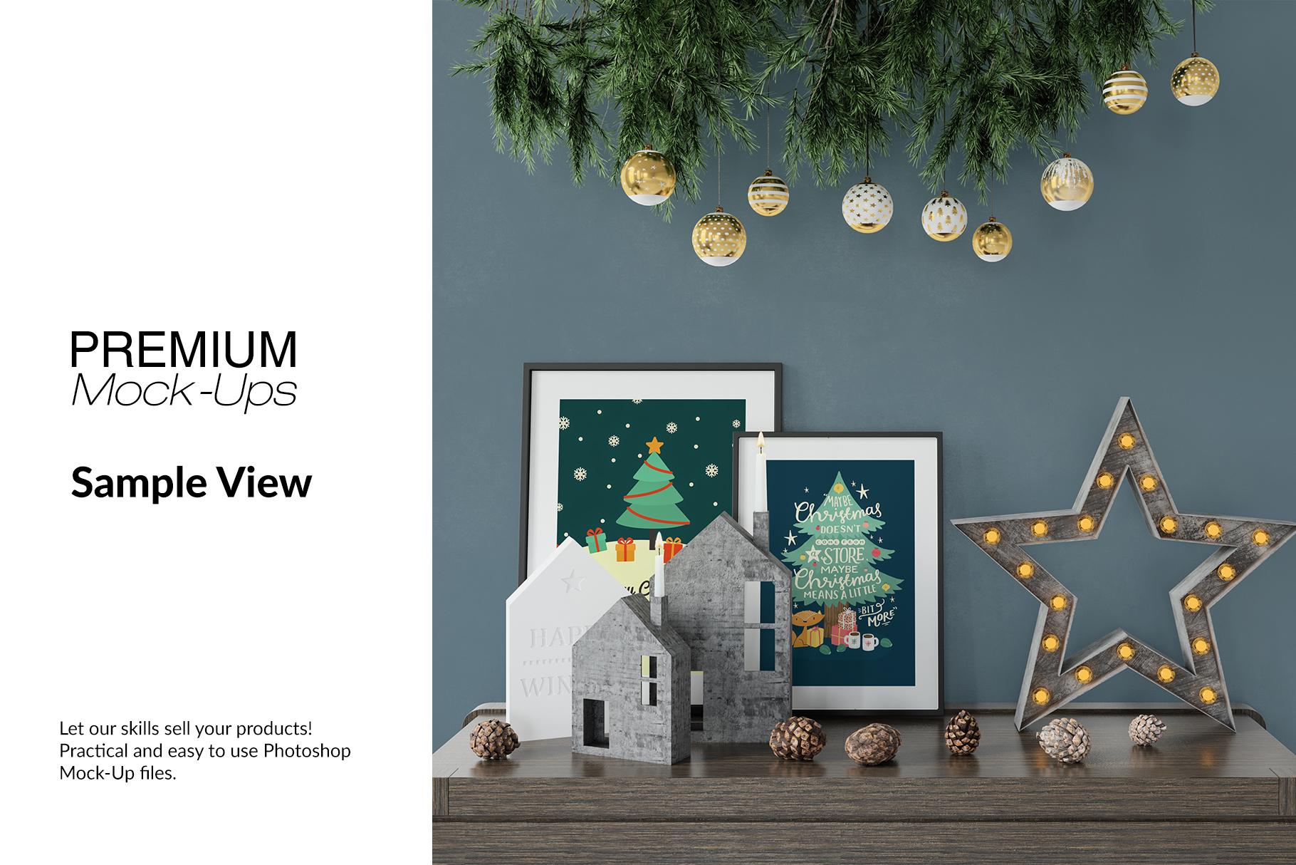 Christmas Frames & Wall Set example image 14