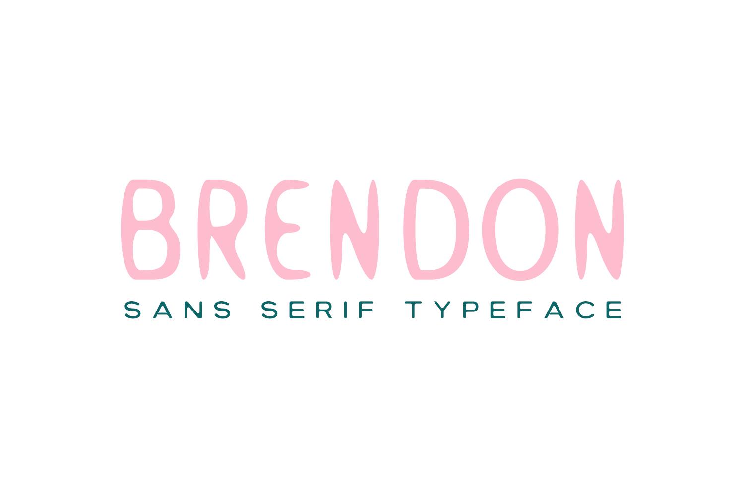 Brendon Sans Serif Typeface example image 9