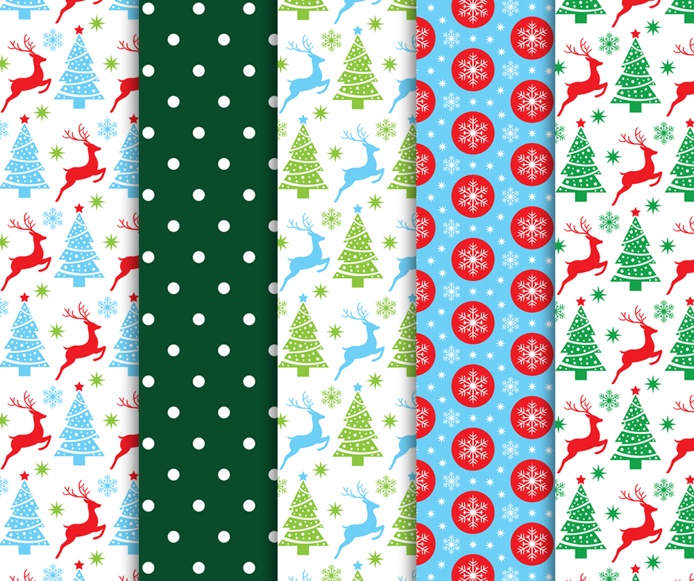 Red and Green Christmas Digital Paper Pack / Backgrounds / Scrapbooking / Patterns / Printables ...