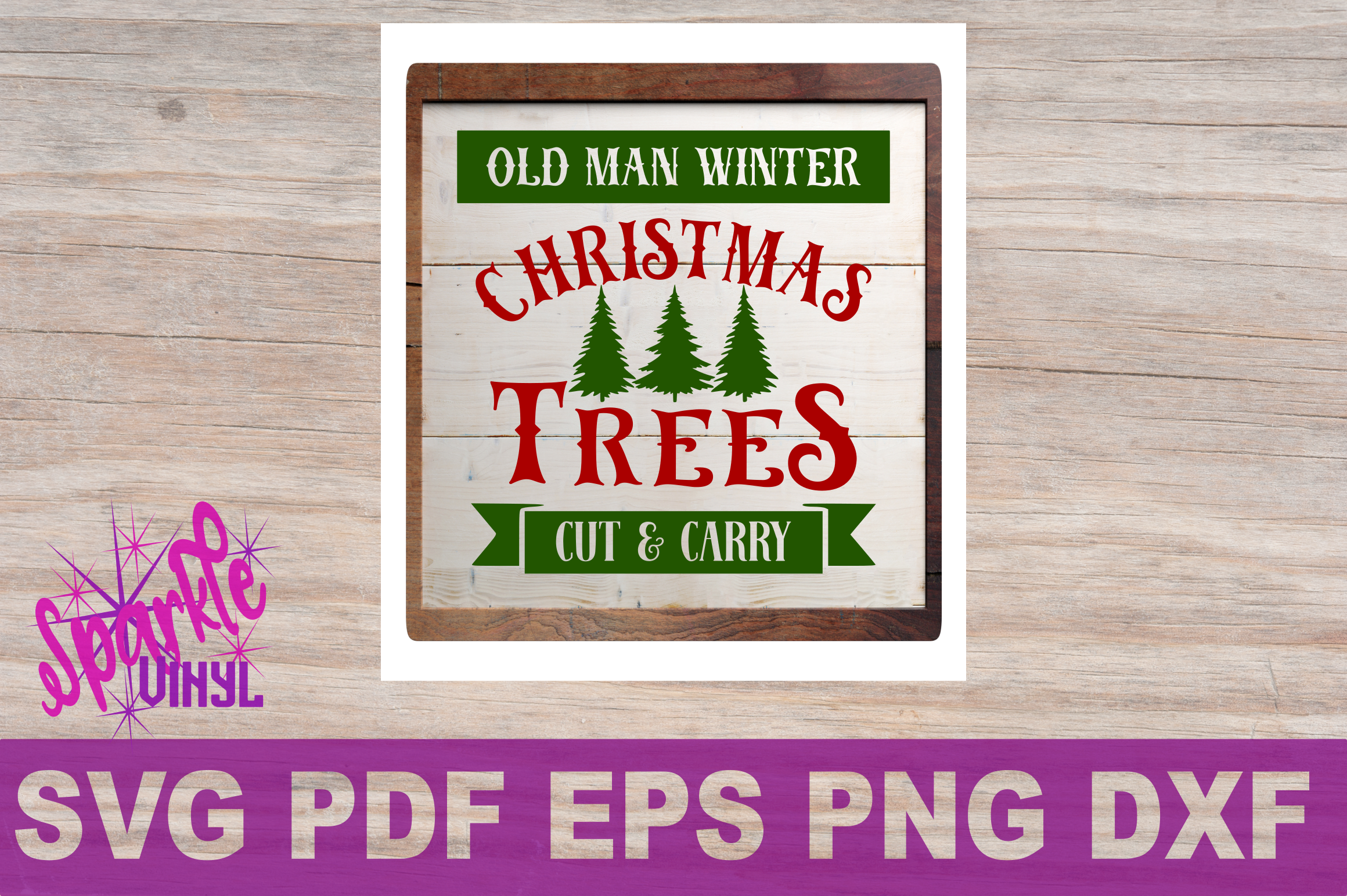 Svg Christmas Sign Stencil Bundle printable svg dxf png pdf esp files for cricut or silhouette Merry Christmas Trees Sold here Mistletoe svg example image 7