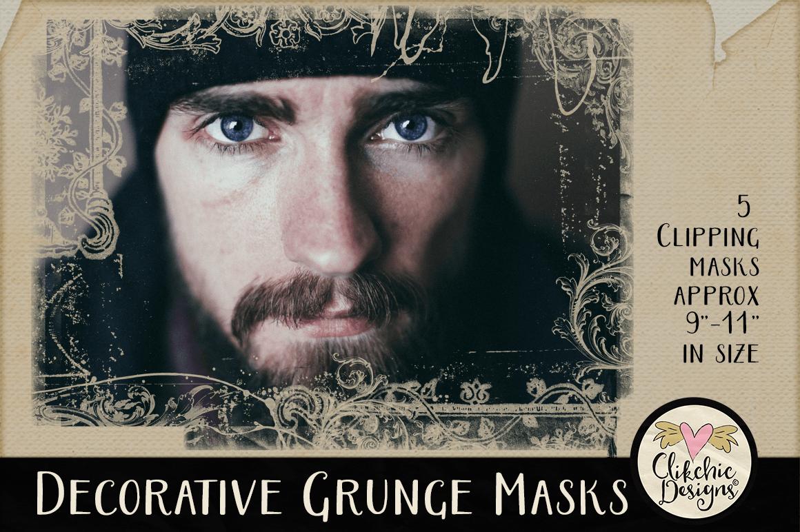 Decorative Grunge Photoshop Clipping Masks & Tutorial example image 4
