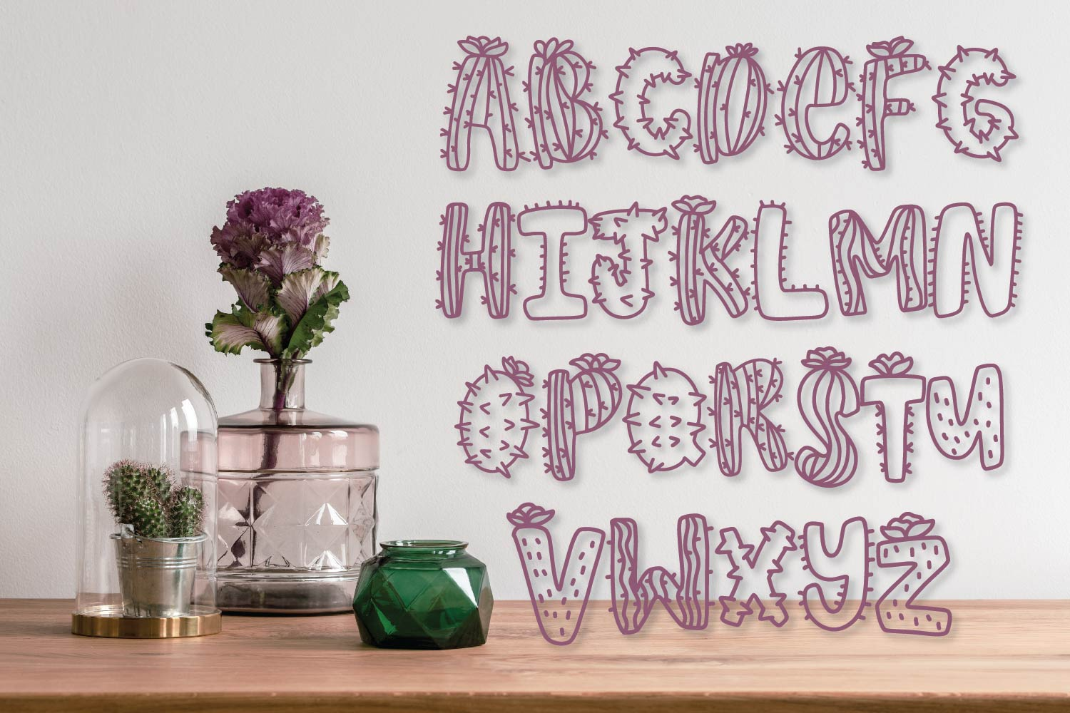 Thirsty Cactus - A Silly Cacti Font example image 10