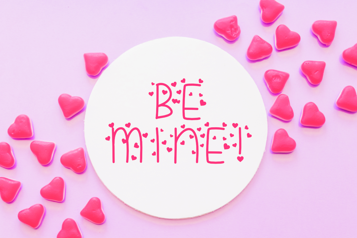 Candy Hearts Valentine Font example image 2