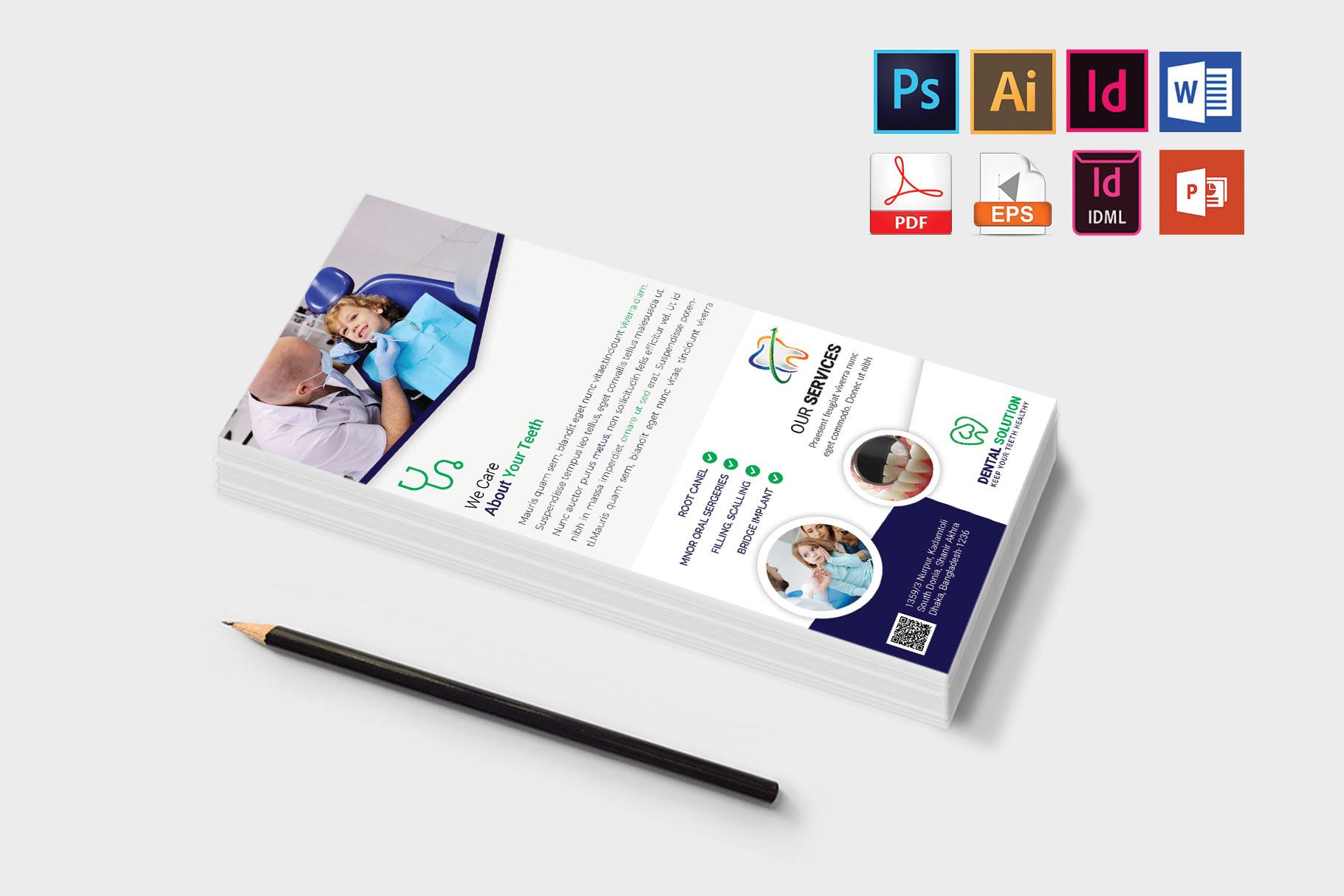 Rack Card   Dental DL Flyer Vol-02 example image 3