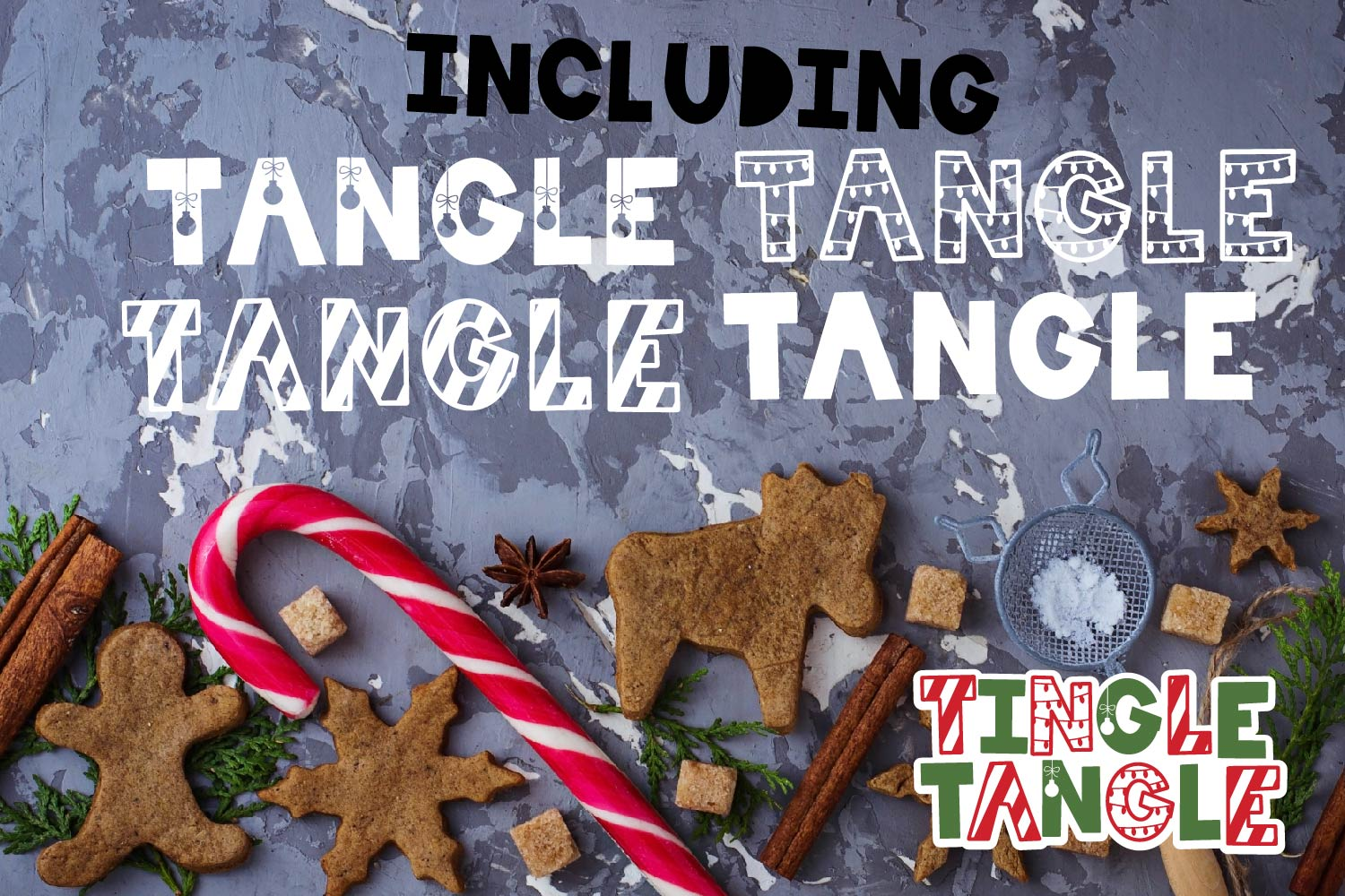 Tingle Tangle - A Christmas Font Quad! example image 2