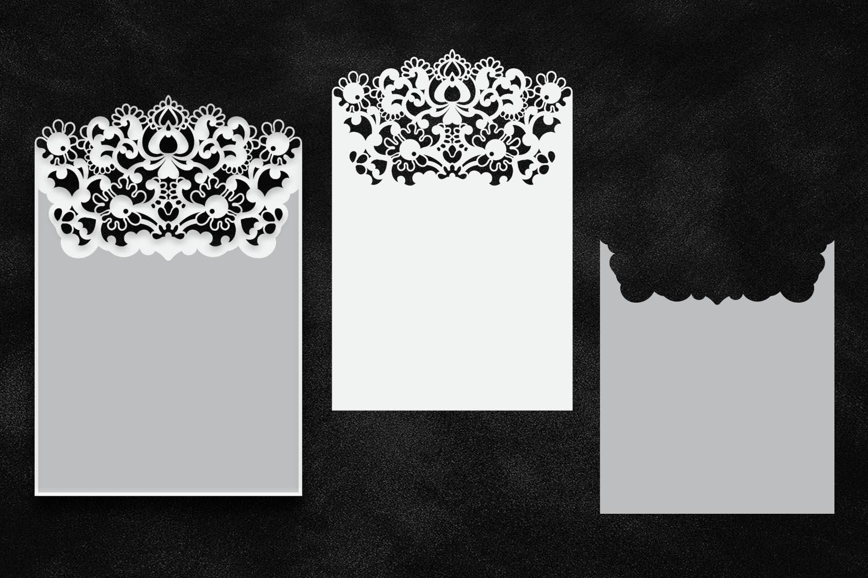 Bundle big set wedding invitations svg laser cut templates