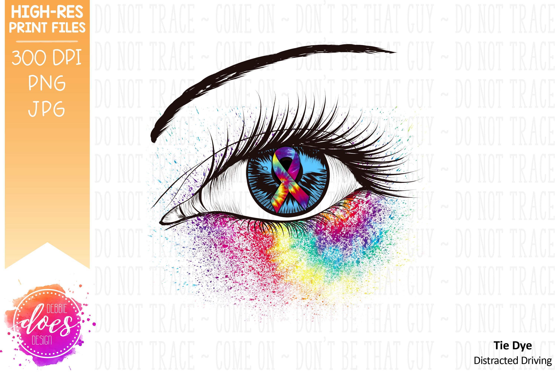 Distracted Driving Awareness Ribbon Eye Printable Design example image 2