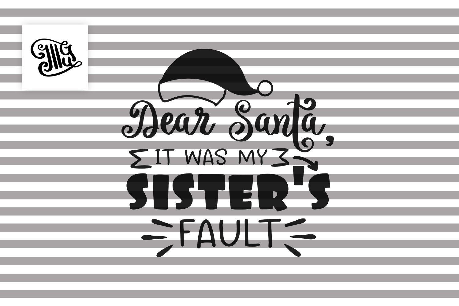 Dear Santa it was my sister's fault - Christmas kids example image 2