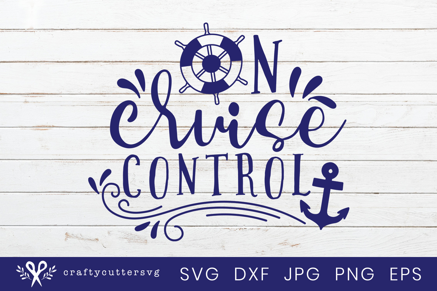 On cruise control Svg Cut File Steering Wheel Anchor Clipart example image 2