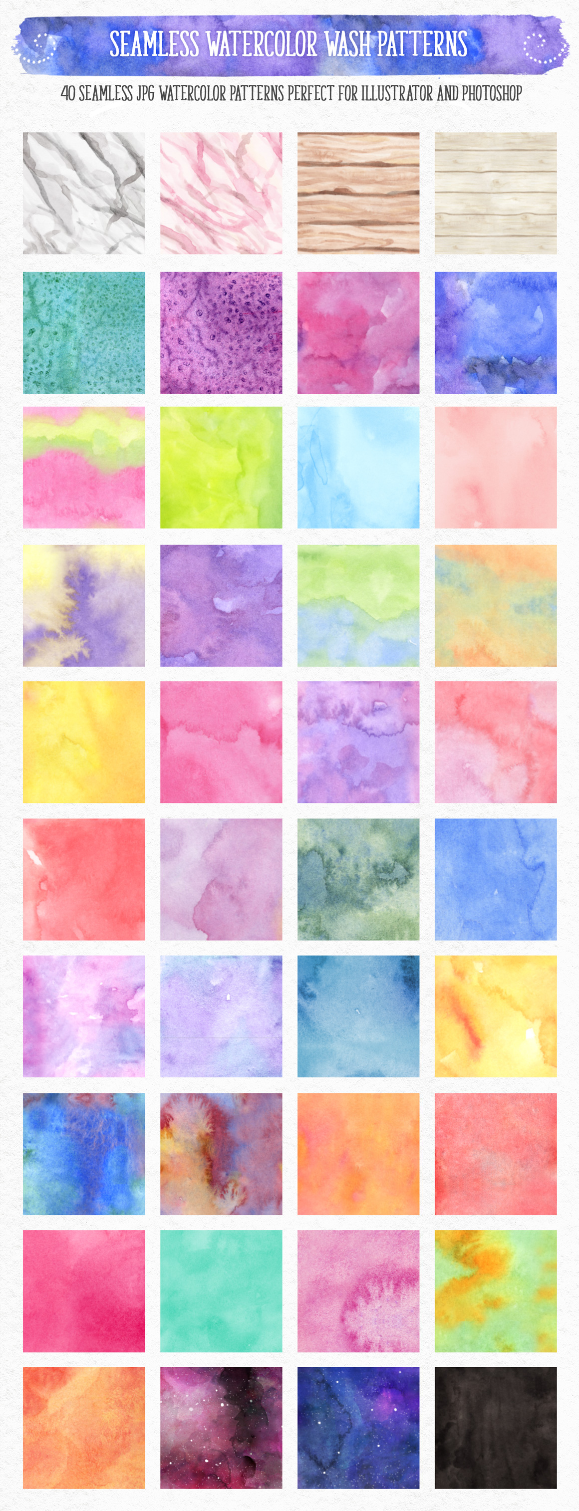 New Watercolor Textures and Graphics Bundle example image 11