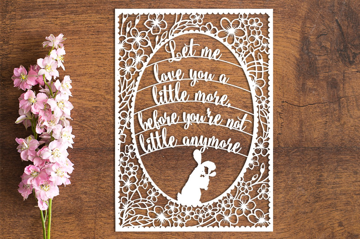 Let Me Love You - Paper Cutting Template example image 1