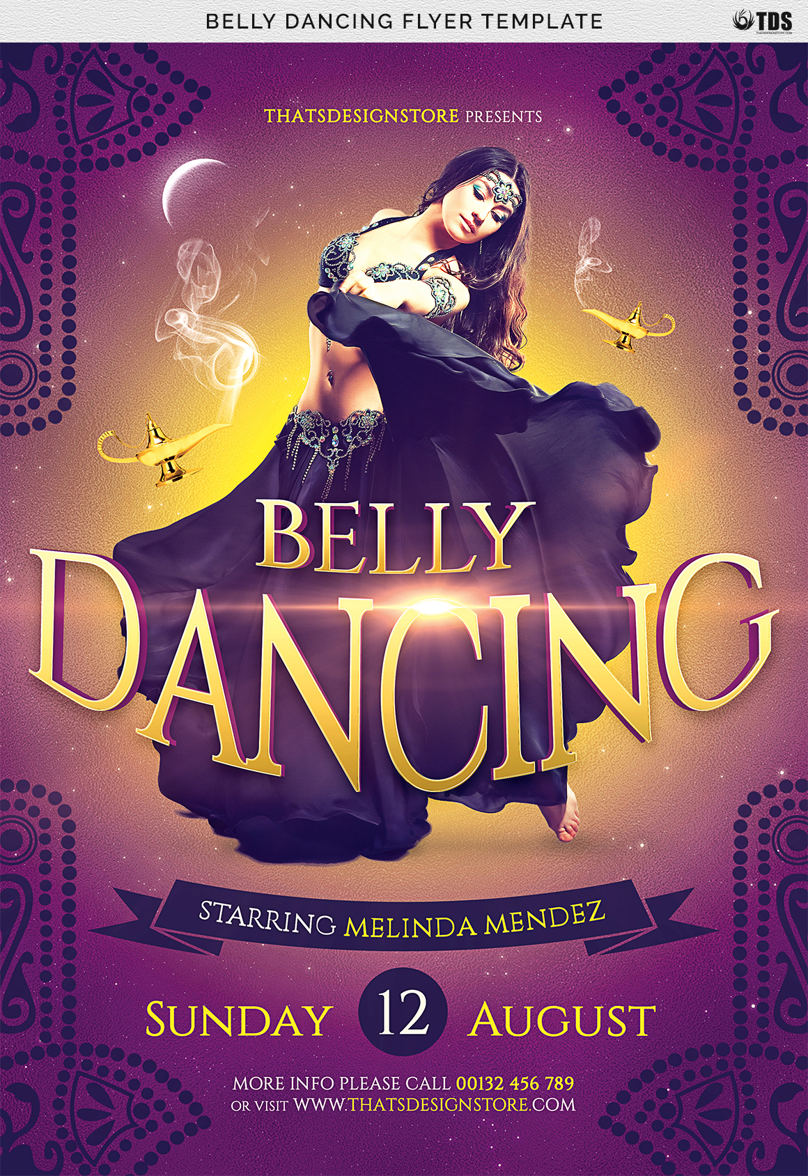 Belly Dancing Flyer Template example image 7
