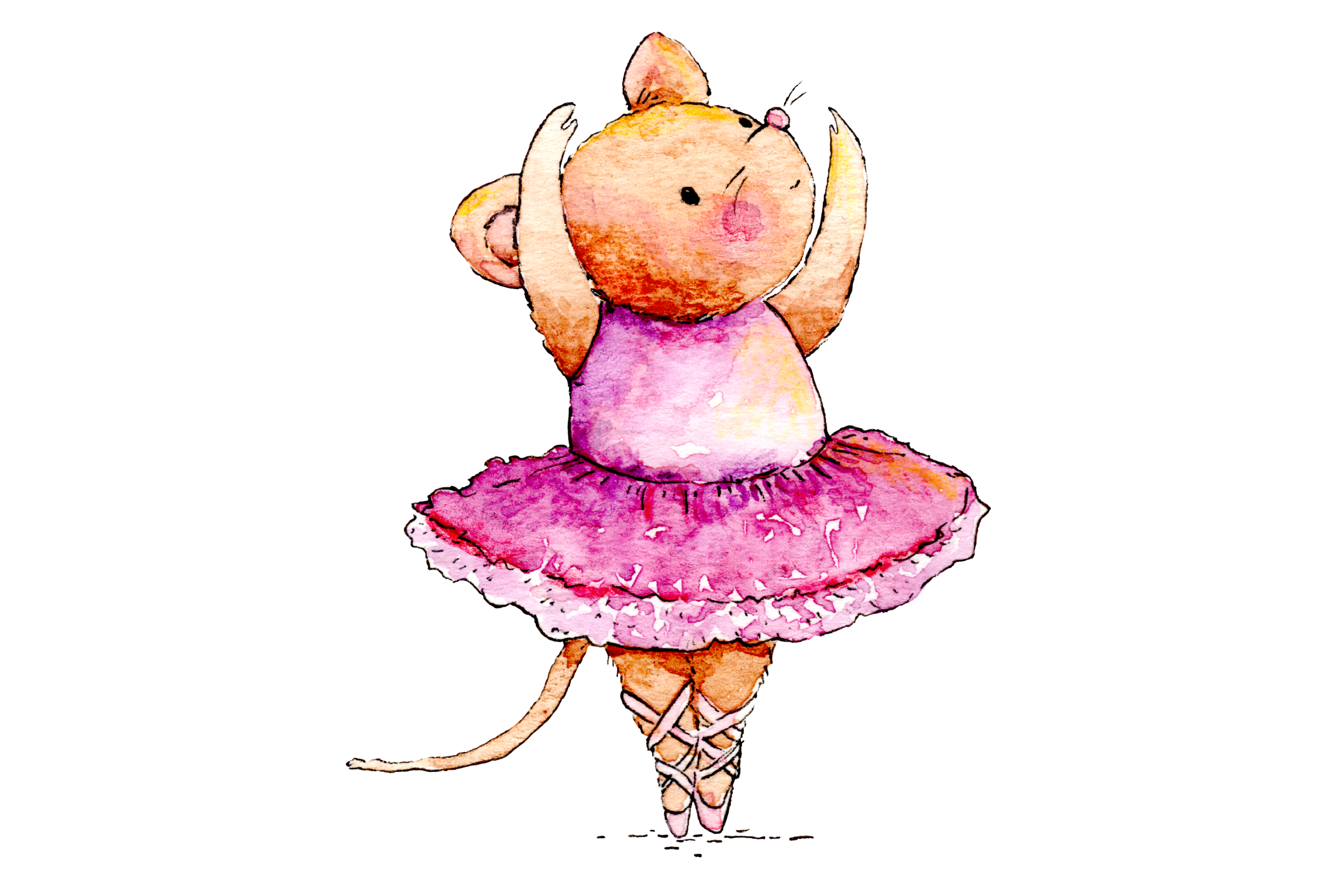Watercolor Ballet Animals | 8 Clip Art Illustrations-PNG/JPG example image 5