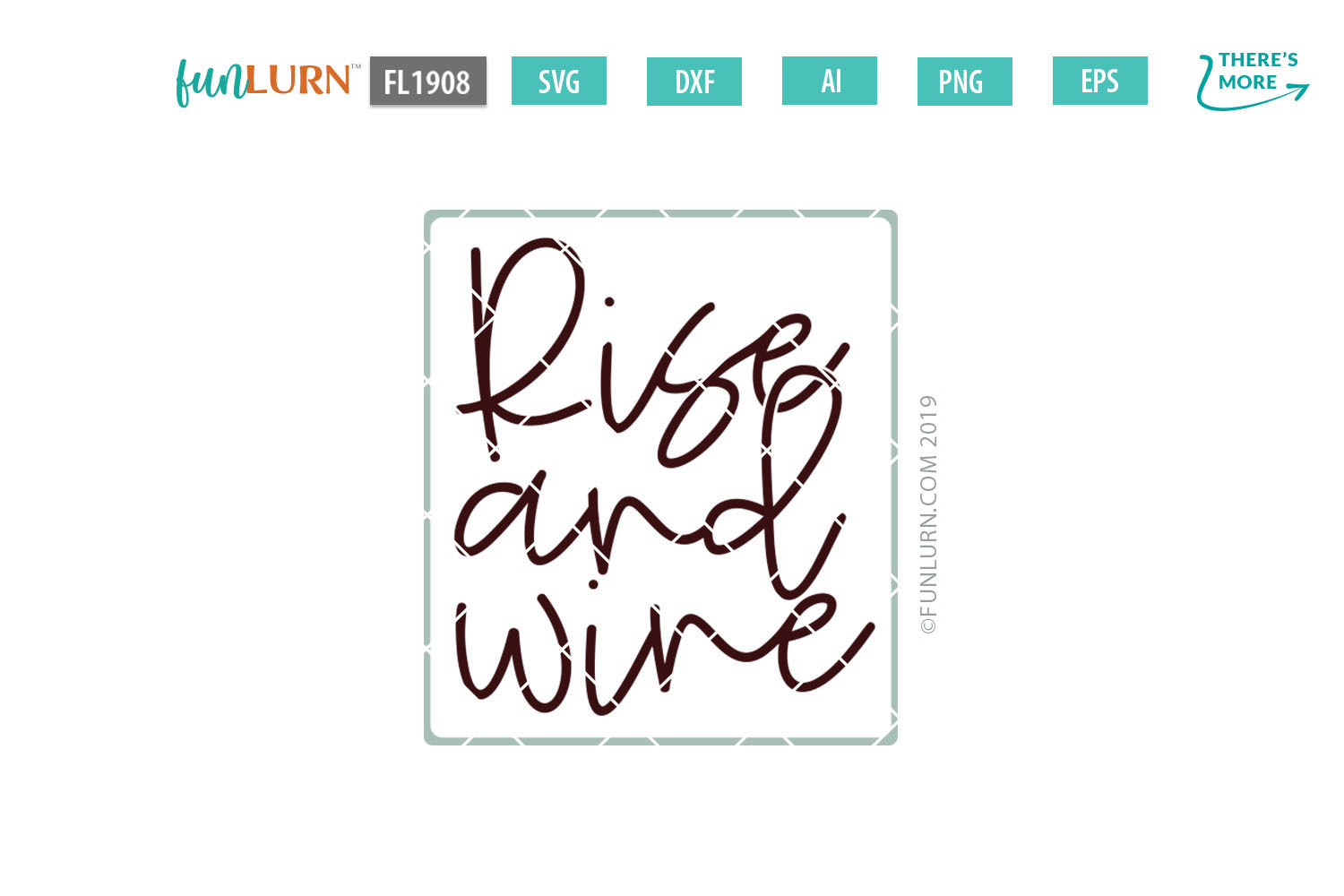 Rise and Wine SVG Cut File example image 2
