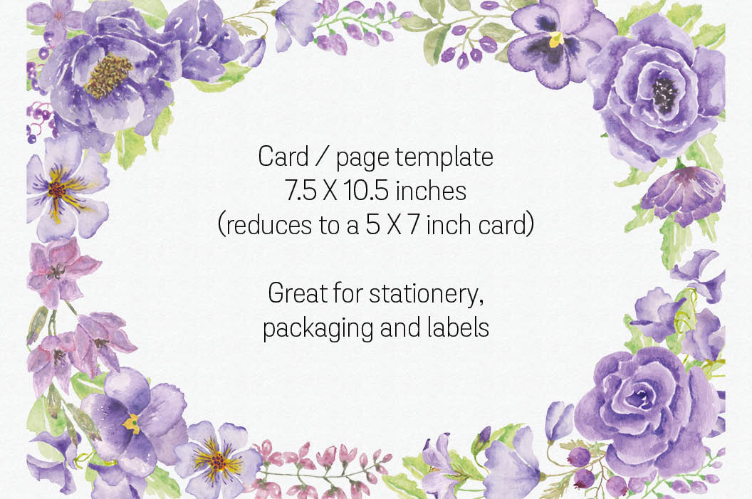 Oval card template: 'Purple Passion' example image 2