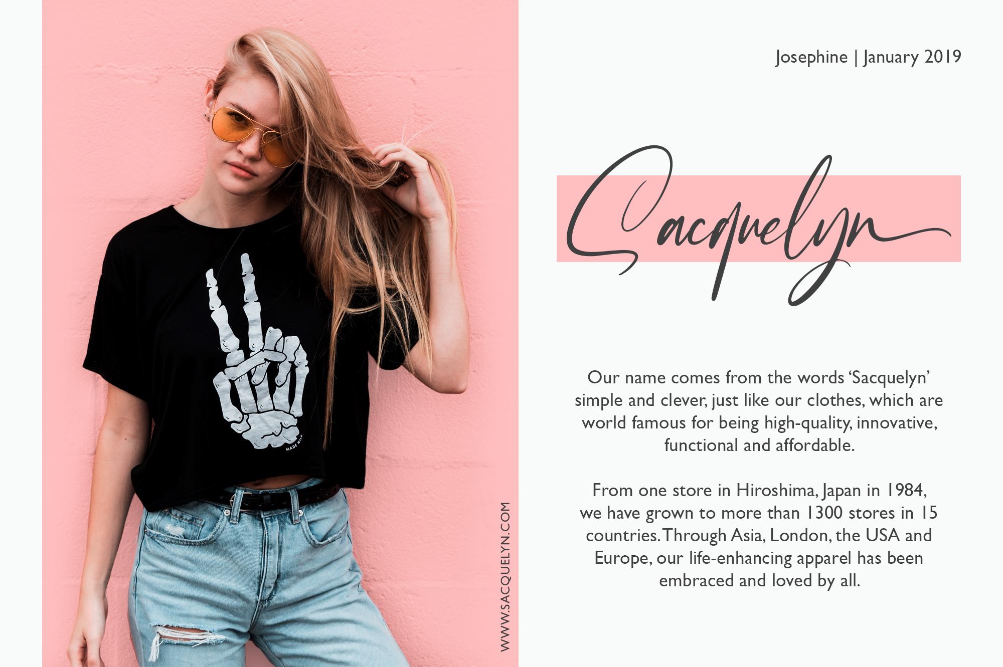 Josephine Fashionable Script Font example image 9