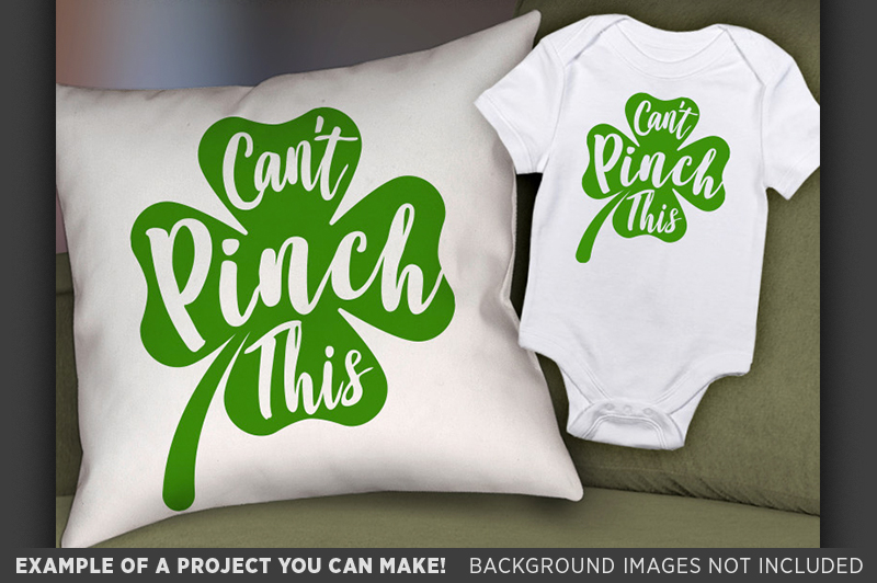 Can't Pinch This SVG - Kids St. Patricks Day Shirt - 1070 example image 2