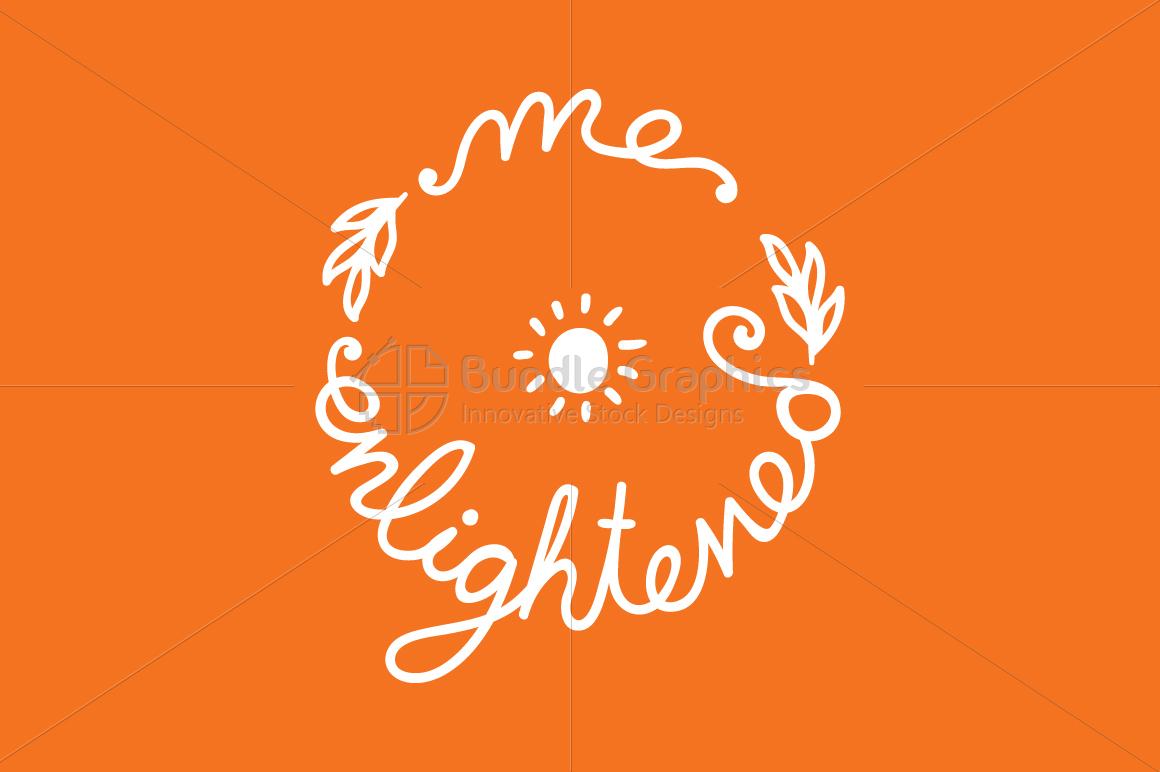 Me Enlightened Graphic - Handwritten Calligraphic Illustration example image 1