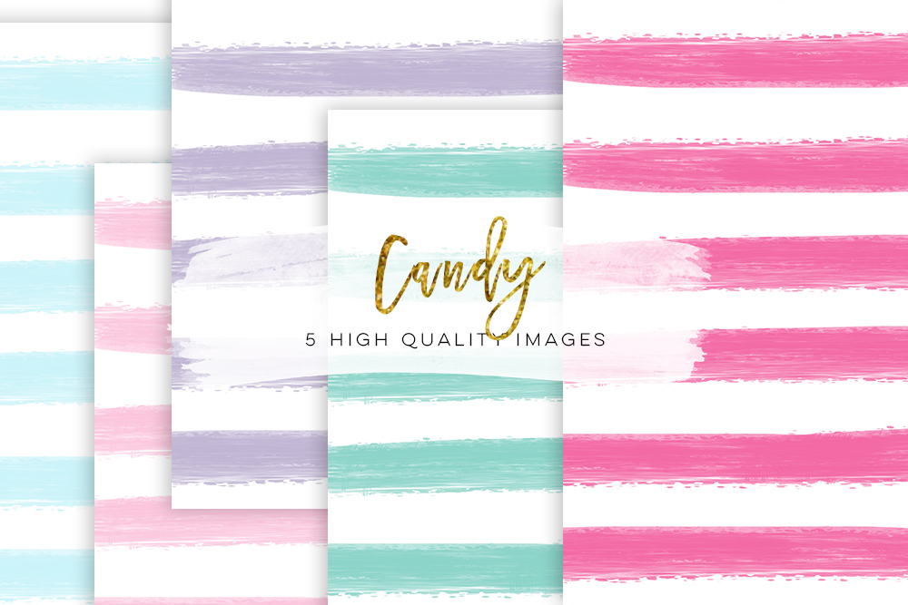 candy paper, Digital Paper Stripes Digital Paper Pack, Colours Candy Paper Pack, Hand Drawn Digital Paper, Sweet Candy Paper Pack Candy example image 1