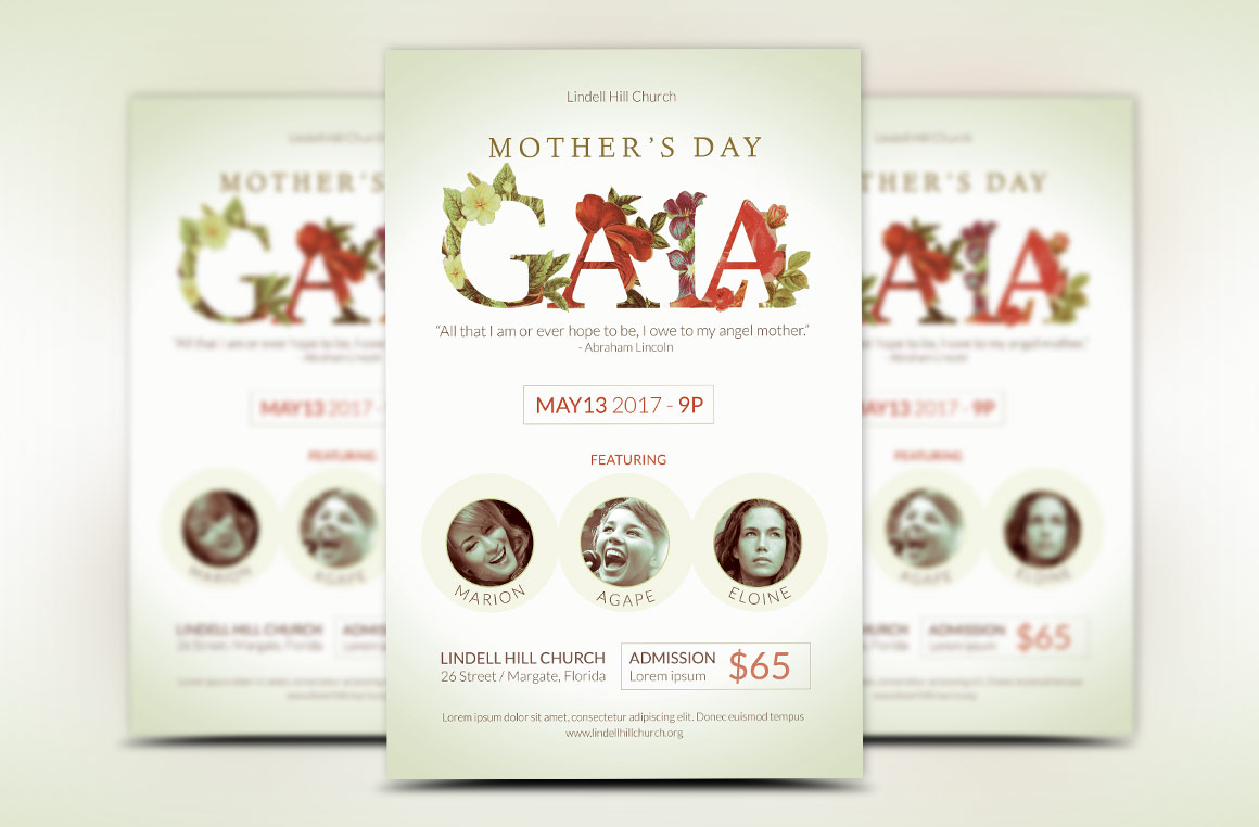 Mothers Day Gala Flyer Template example image 2