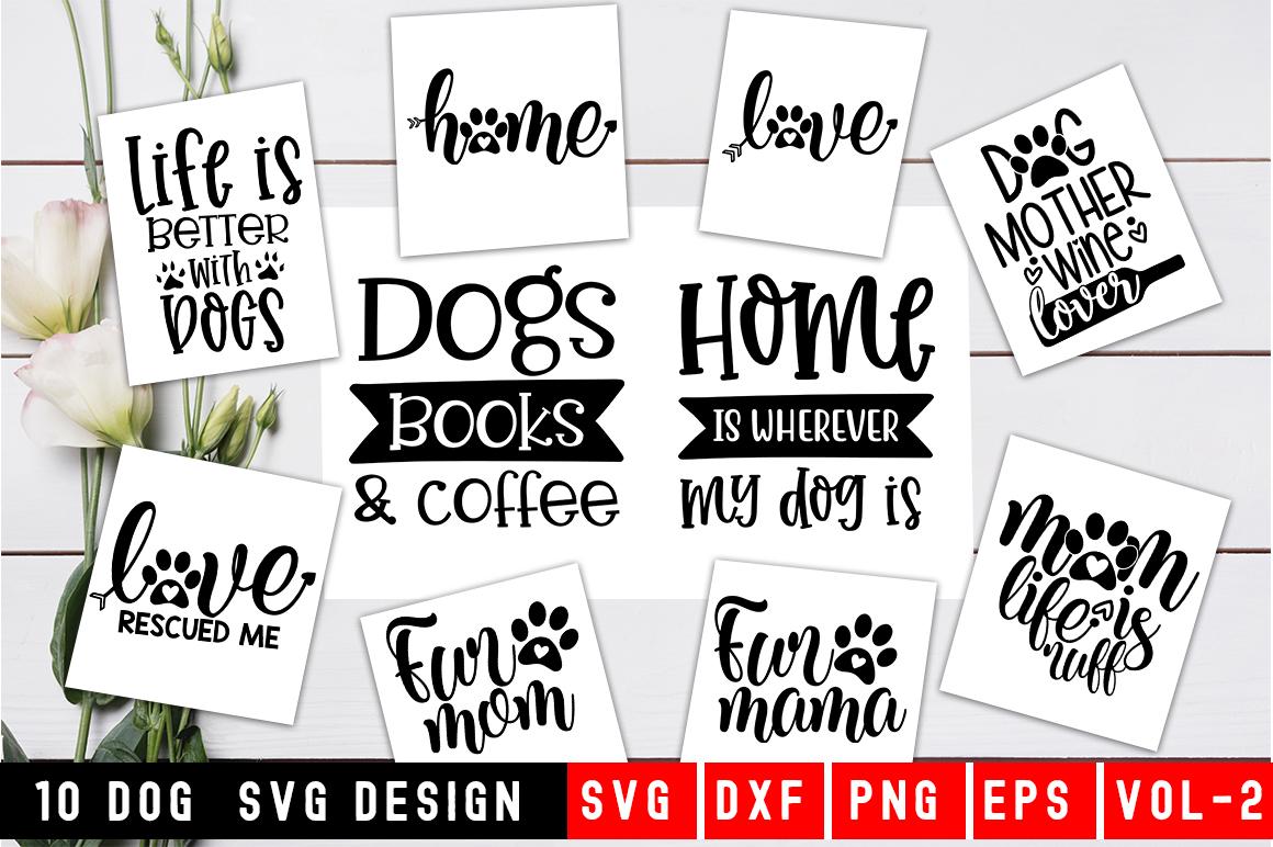Dog SVG Bundle|10 Designs|Pet Mom Bundle example image 1