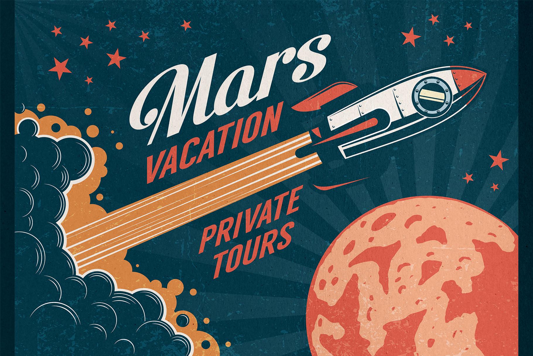 6 Vintage Rocket Posters example image 4