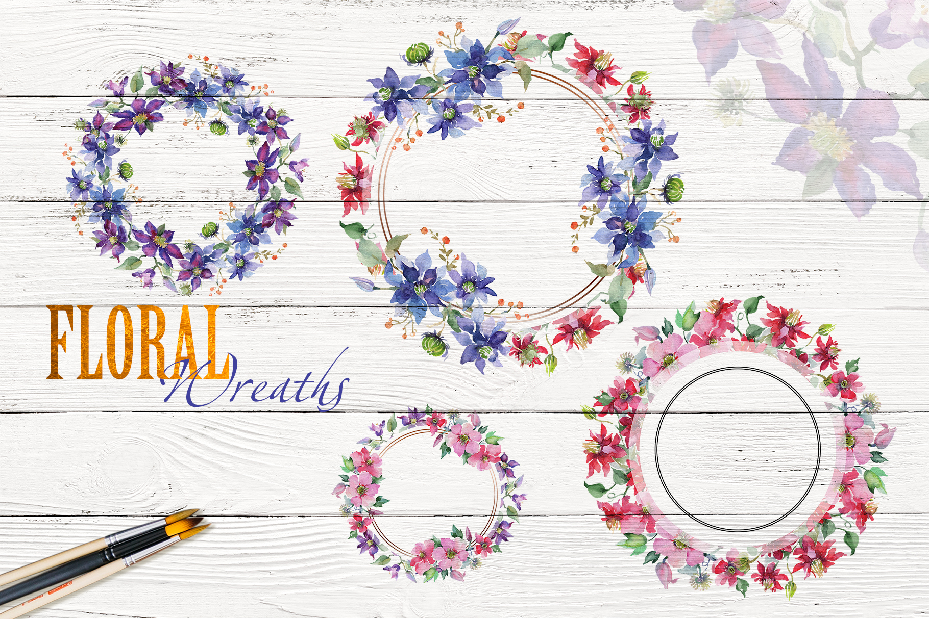 Bright Bouquets Watercolor png example image 7