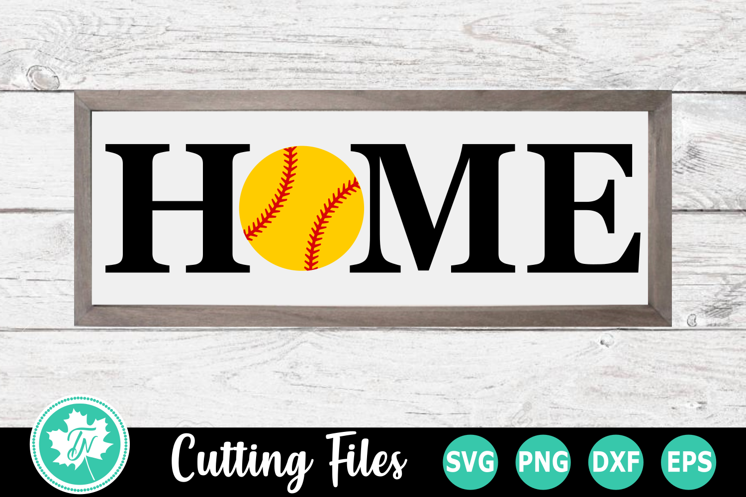 Softball Home Sign - A Sports SVG Cut File example image 1