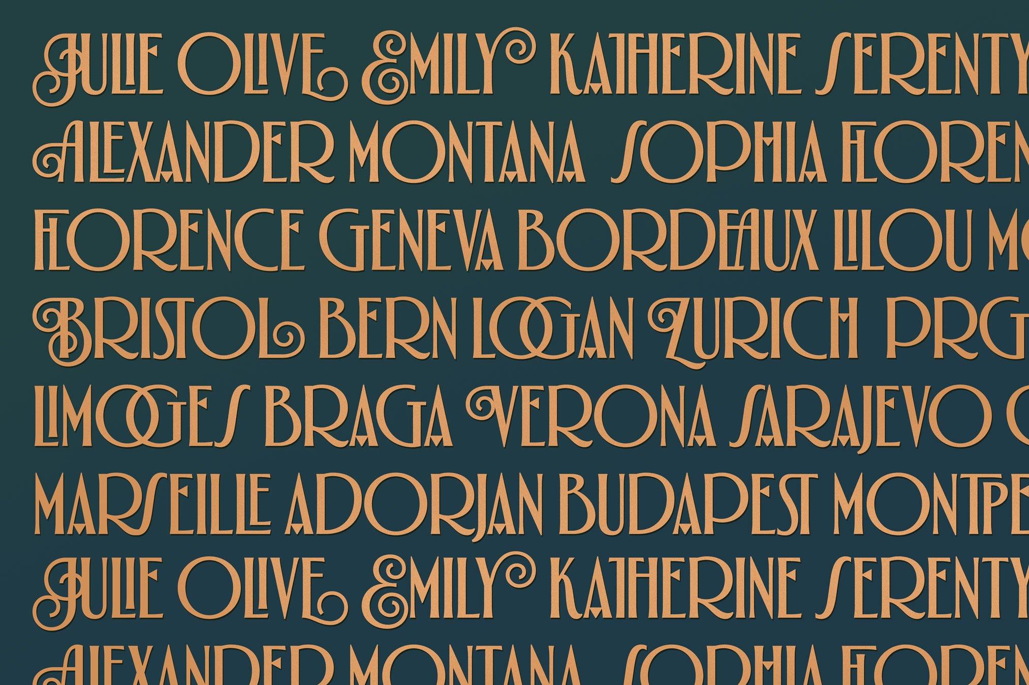 Alathena Font Family example image 8
