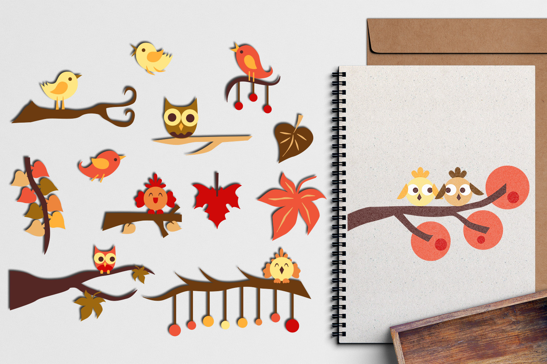 Autumn Fall Bundle - Nature clip art illustrations example image 2