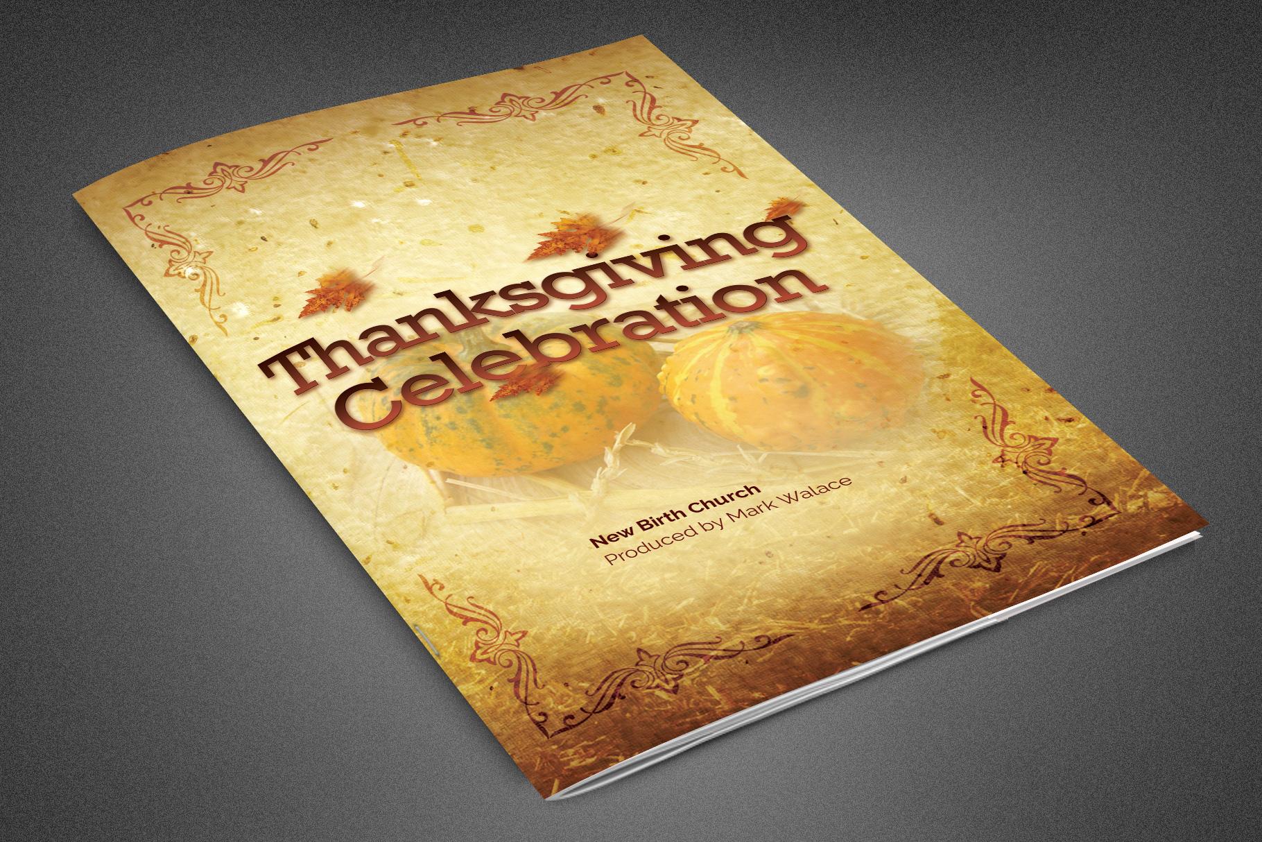 Thanksgiving Celebration Bulletin example image 1