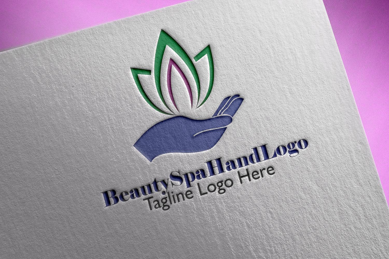 Premium Beauty Spa Hand Logo example image 1