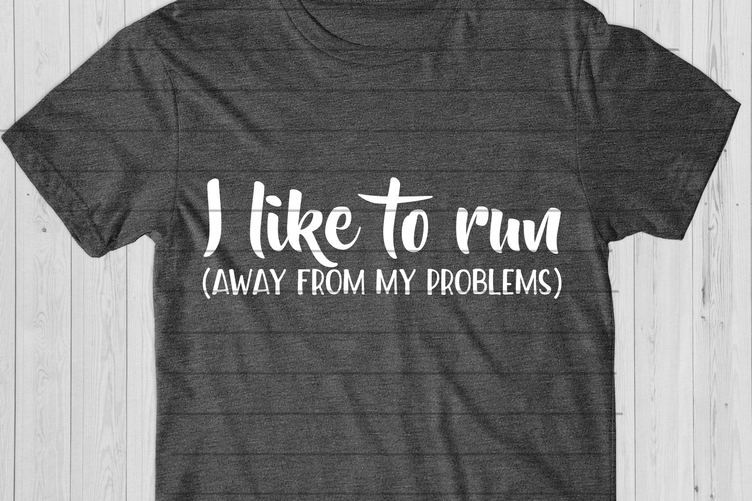 I Like To Run - Away From My Problems SVG, Fit Mom Cut File example image 1